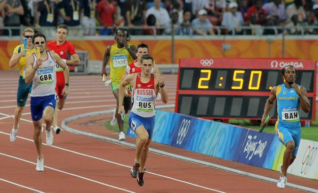 Российские легкоатлеты. Олимпийские игры