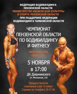 чемпионат пензенской области по бодибилдингу и фитнесу