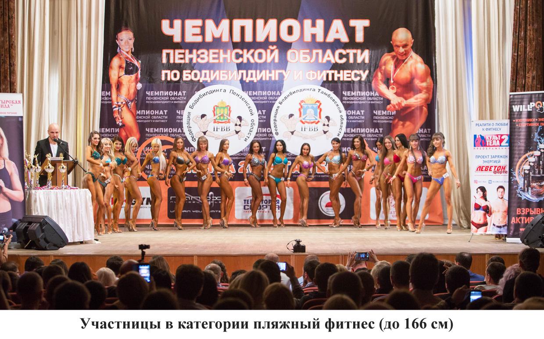 участницы в категории пляжный фитнес до 166 см