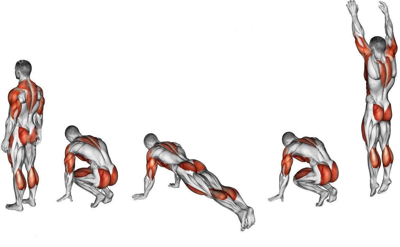 Упражнение бурпи для похудения гимнастика для сильных духом