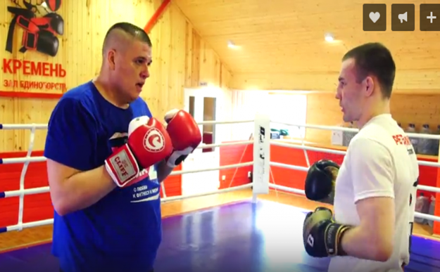 Тренировка Рогозина с Петеримовым